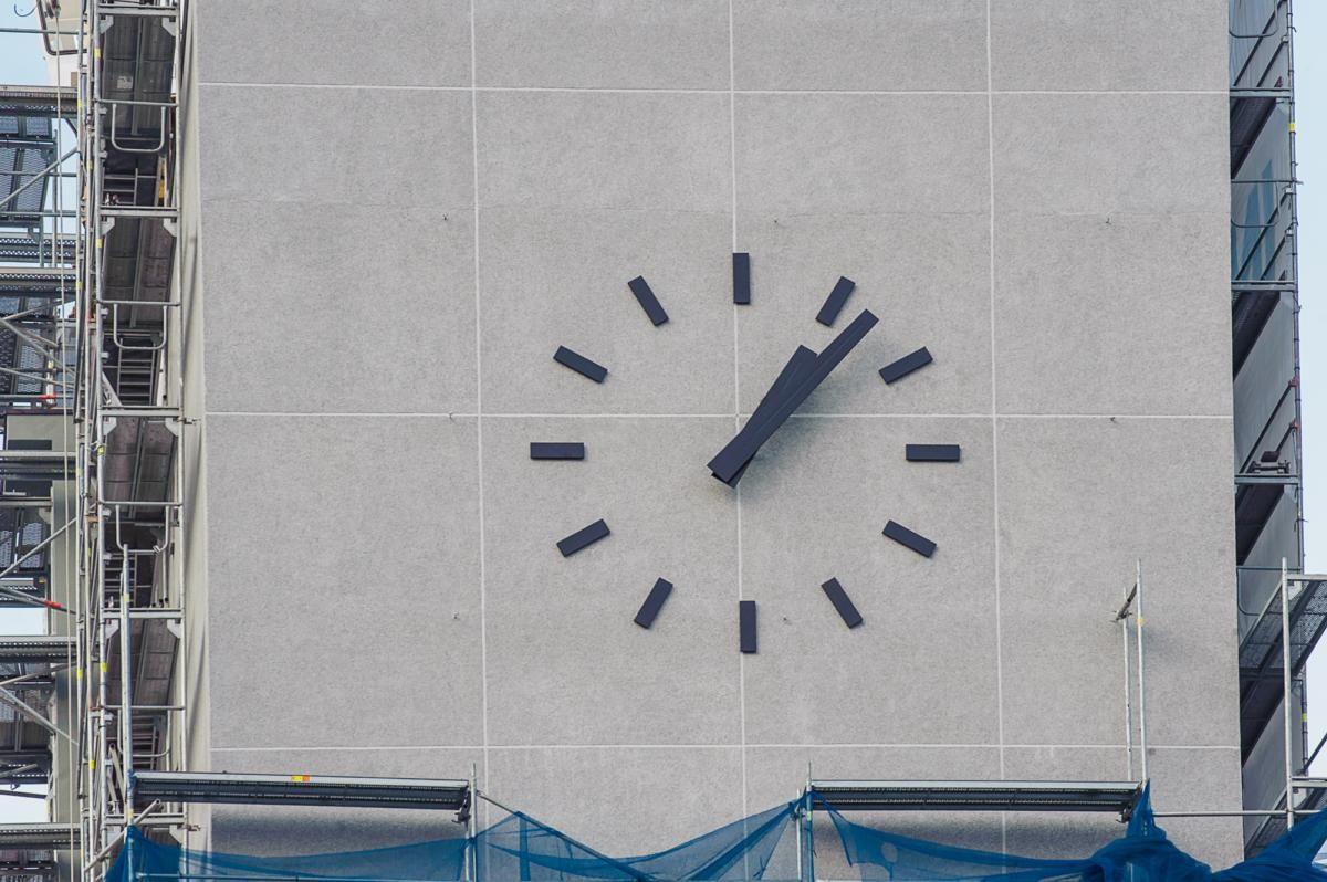 Muzikinio teatro bokšte įrengtas iš Prancūzijos atgabentas laikrodis
